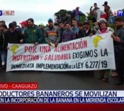 Productores exigen inclusión de la banana en merienda escolar