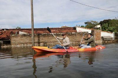 Río volvió a subir en Pilar y sigue en alerta amarilla