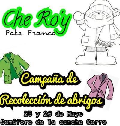 Lanzan campaña de recolección de abrigos en Pdte. Franco