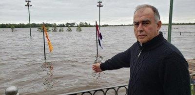 La inundación llegó al Deportivo Sajonia