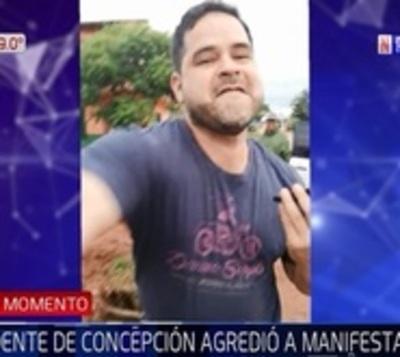 Intendente de Concepción es grabado agrediendo a una mujer