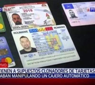 Capturan a tres rumanos presuntos clonadores de tarjetas