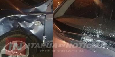 ACCIDENTE SOBRE LA COSTANERA PARAGUAY DEJA MOTOCICLISTA GRAVE.