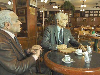 Cuando Facundo Cabral y Jorge Luis Borges se encontraron en Café La Biela
