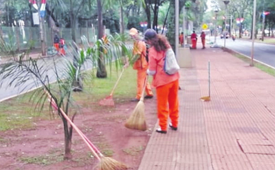 Comuna sin insumos para limpiar espacios públicos