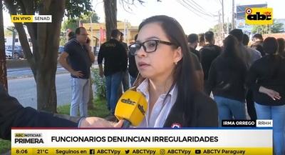 Funcionarios de Senad protestan contra contrataciones millonarias