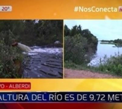 Alberdi: A 1,28 metros de una posible evacuación
