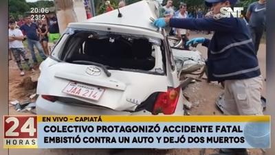 Se entrega conductor de bus que mató a dos personas