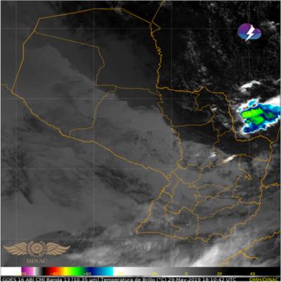 Alerta de tormentas para el Este de la Región Oriental