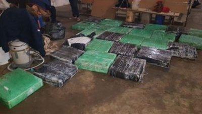 Confiscan 990 kilos de marihuana de una propiedad en Cnel. Oviedo