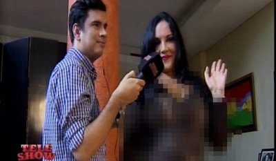 """El sensual look de Zuni Castiñeira en """"TeleShow"""""""