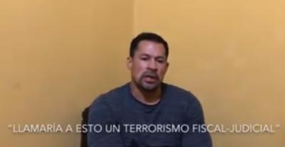 Ulises Quintana tilda de terrorismo fiscal y judicial a su privación de libertad