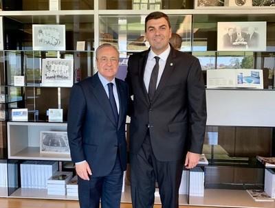 Marco Trovato se reúne con presidente del Real Madrid