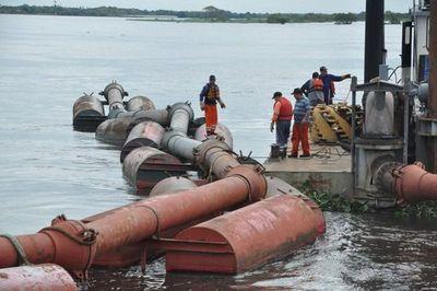 Draga de la ANNP completaría unos 4.000 m³ de refulado en Pilar