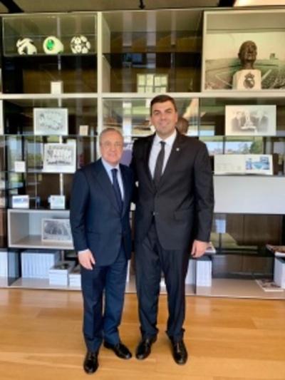 Marco Trovato se reunió con el presidente del Real Madrid