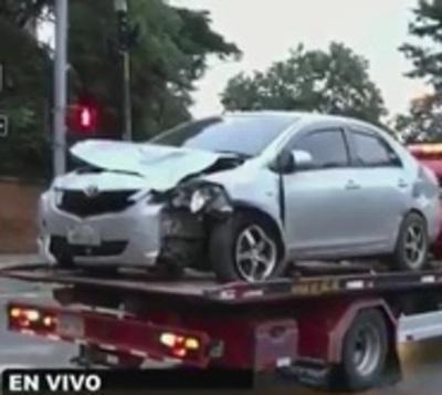 Conductor ebrio ocasiona aparatoso choque en Asunción