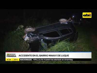 Accidente en el barrio Maka'i de Luque