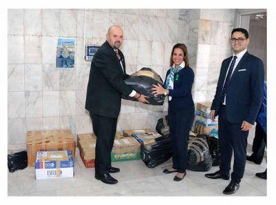 Registro de Automotores acercó donaciones para damnificados