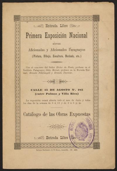 Exposición para conmemorar los 120 Años de la primera muestra de arte en Paraguay