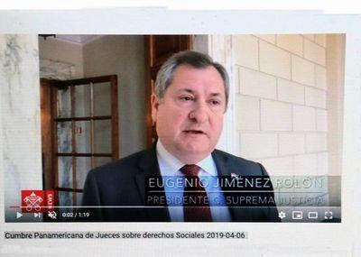 Titular de la Corte en Cumbre Panamericana de Jueces