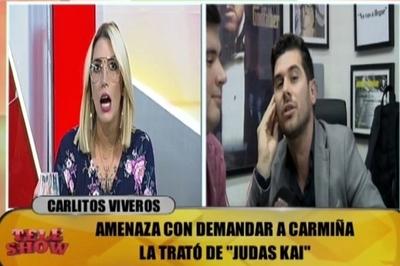 """Carmiña a Carlos Viveros: """"Es impresionante lo maricón que sos"""""""