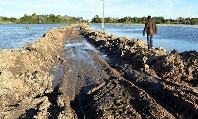 Ñeembucú: Pobladores se movilizan para exigir pavimentación