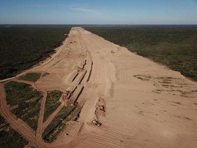 Nueva embocadura del río Pilcomayo en etapa final