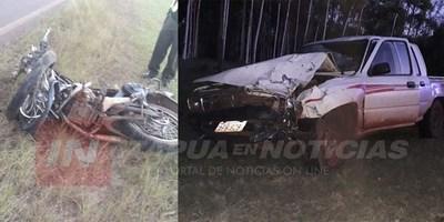 MOTOCICLISTA FALLECE EN ACCIDENTE SOBRE GRANEROS DEL SUR.