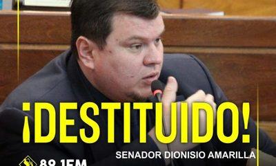 """El Senado destituye a Dionisio Amarilla y otro """"pez gordo"""" de la corrupción queda fuera del Congreso"""