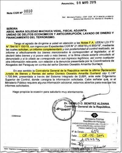 Aún no designan fiscal para investigar a Dionisio Amarilla