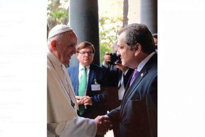 Presidente de la Corte Suprema fue recibido por el papa Francisco