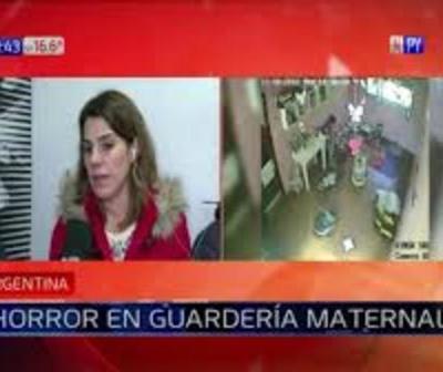 Horror en guardería: Captan a maestra maltratando a beba