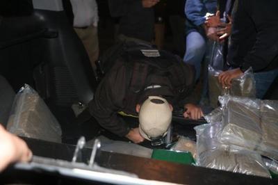 Detectan carga de hachís proveniente de Barcelona