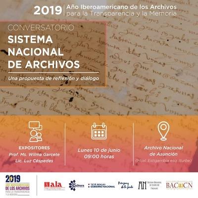Conversatorio sobre el Sistema Nacional de Archivos