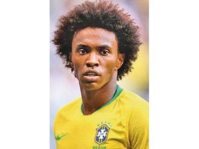 Willian reemplazó a Neymar en Brasil