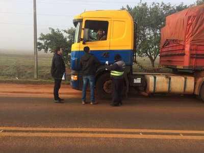 Más de 60 choferes de camiones de carga encuestados trabajan irregularmente