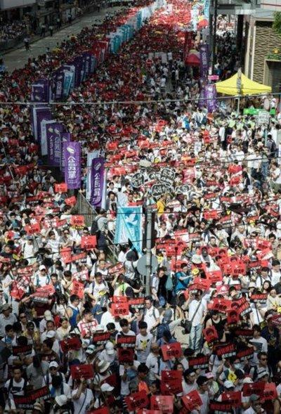 Histórica protesta contra extradiciones a China