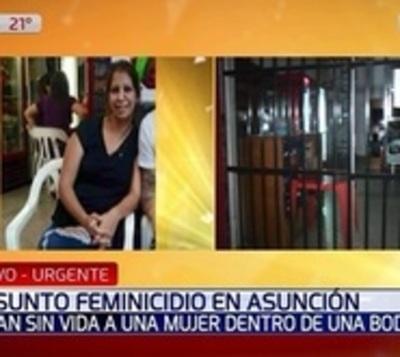 Hallan muerta a mujer en una bodega de Asunción