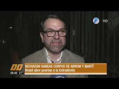 Brasil rechaza hábeas corpus para Arrom y Martí