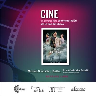 """Proyección de la película """"La Redención"""" por el día de la Paz del Chaco"""