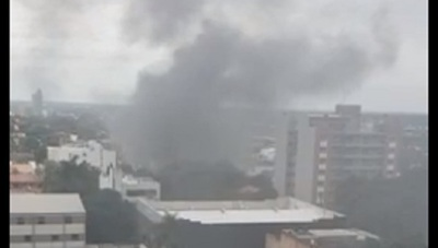 Incendio de gran magnitud en comercio de Asunción