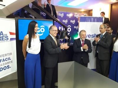 Tigo bate récord en la Bolsa de Valores de Asunción