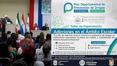 INICIAN TALLERES SOBRE ADICCIONES EN EL ÁMBITO ESCOLAR.