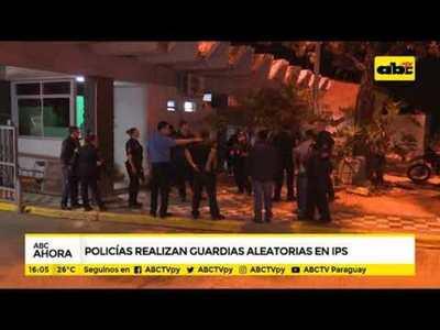 Policía Nacional realiza guardias aleatorias en IPS