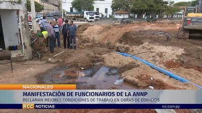 Sindicato de Puertos se manifiesta contra obras en predio de institución