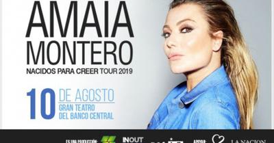 Amaia Montero viene a visitarnos en agosto