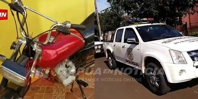 FISCALÍA INCAUTÓ DOS MOTOCICLETAS EN CASO TENTATIVA DE HOMICIDIO.