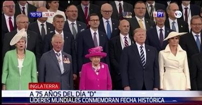A 75 años del Día 'D': Homenajean a soldados fallecidos y veteranos