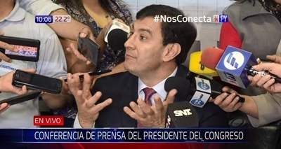 """Recorte de salario a congresistas: """"Un disparate"""", afirma senador Ovelar"""
