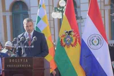 Mario Abdo Benítez y Evo Morales coinciden en el interés de profundizar la integración entre Paraguay y Bolivia